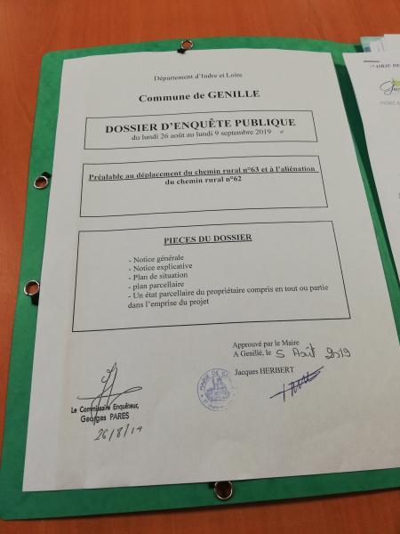 Tous les documents relatifs à cette enquête publique ( courriers, compte rendu du commissaire ..) sont disponibles au siège de l'association..