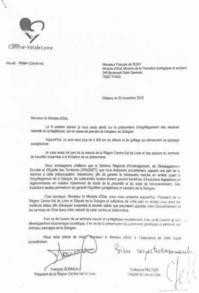 lettre cosignée de FB et GP