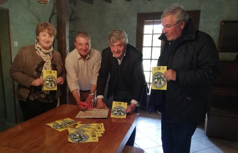 Député Nicolas FORISSIER et le sénateur Rémy POINTERAU avec Mme RENIER maire d'Aubigny/Nère