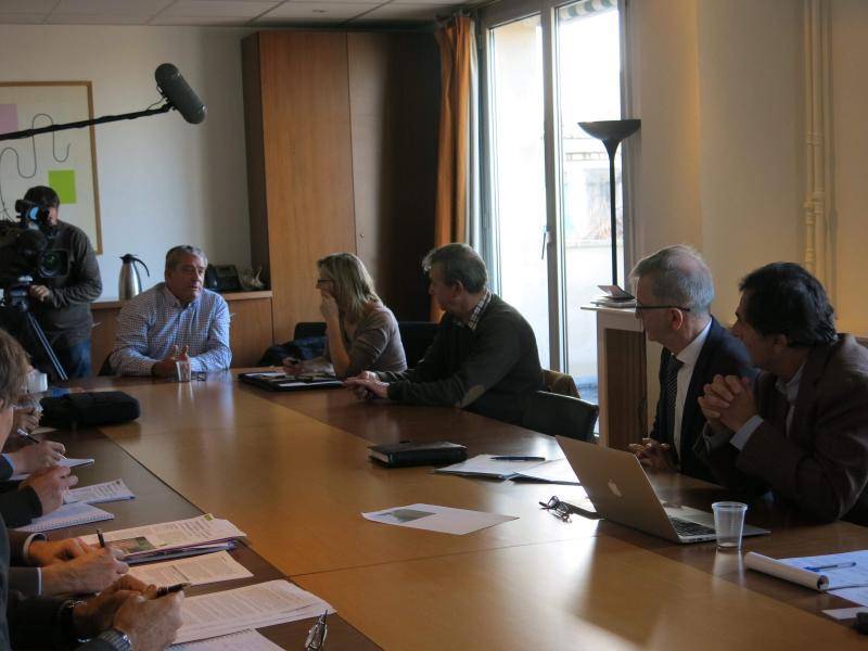 A l'écoute du Président de la FDC41, Hubert-Louis Vuitton