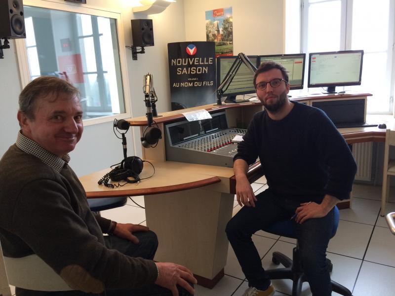 Le Président Raymond LOUIS avec le journaliste Pierre Mousset