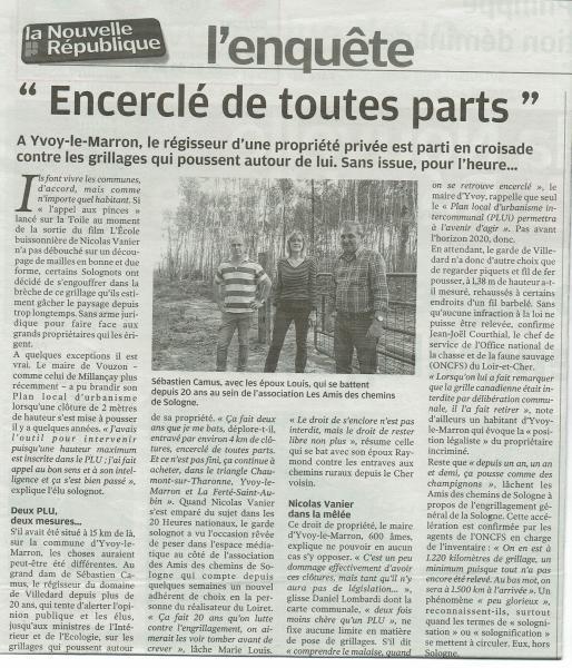 Marie Louis, secrétaire de l'association avec à sa droite Sébastien Camus, régisseur d'un domaine à Yvoy-le-Marron et à sa gauche, Raymond LOUIS Président