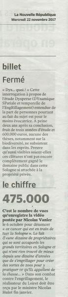 Etude Dysperse, beaucoup d'argent public de gaspillé, 600.000 euros