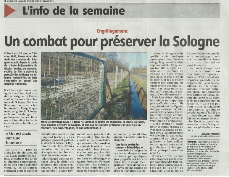"""l'association """"Les Amis des chemins de Sologne"""""""
