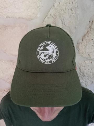 """Casquette avec logo """"Les Amis des Chemins de Sologne"""""""