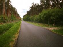 route entre deux clôtures