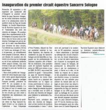 Inauguration du premier circuit équestre Sancerre Sologne