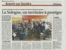L'Assemblée Générale de l'association Les Amis des Chemins de Sologne s'est tenue à Brinon-sur-Sauldre le Dimanche 17 Mars 2019.