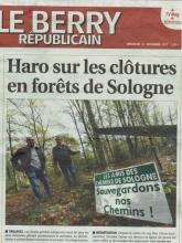 """Raymond LOUIS, président de l'association """"Les Amis des Chemins de Sologne"""" avec Sébastien Camus"""