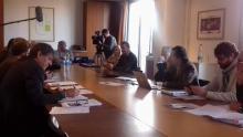 Pendant la réunion